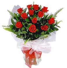 12 pc fresh red rose bunch