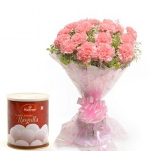 15-Pink-Carnations-with-1-Kg-Rasgulla