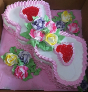 Double Heart Shape Cake