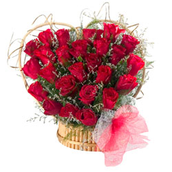 25 Heart Shape Red Rose Bunch..!!