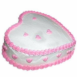 1/2Kg Pineapple heart shape cake