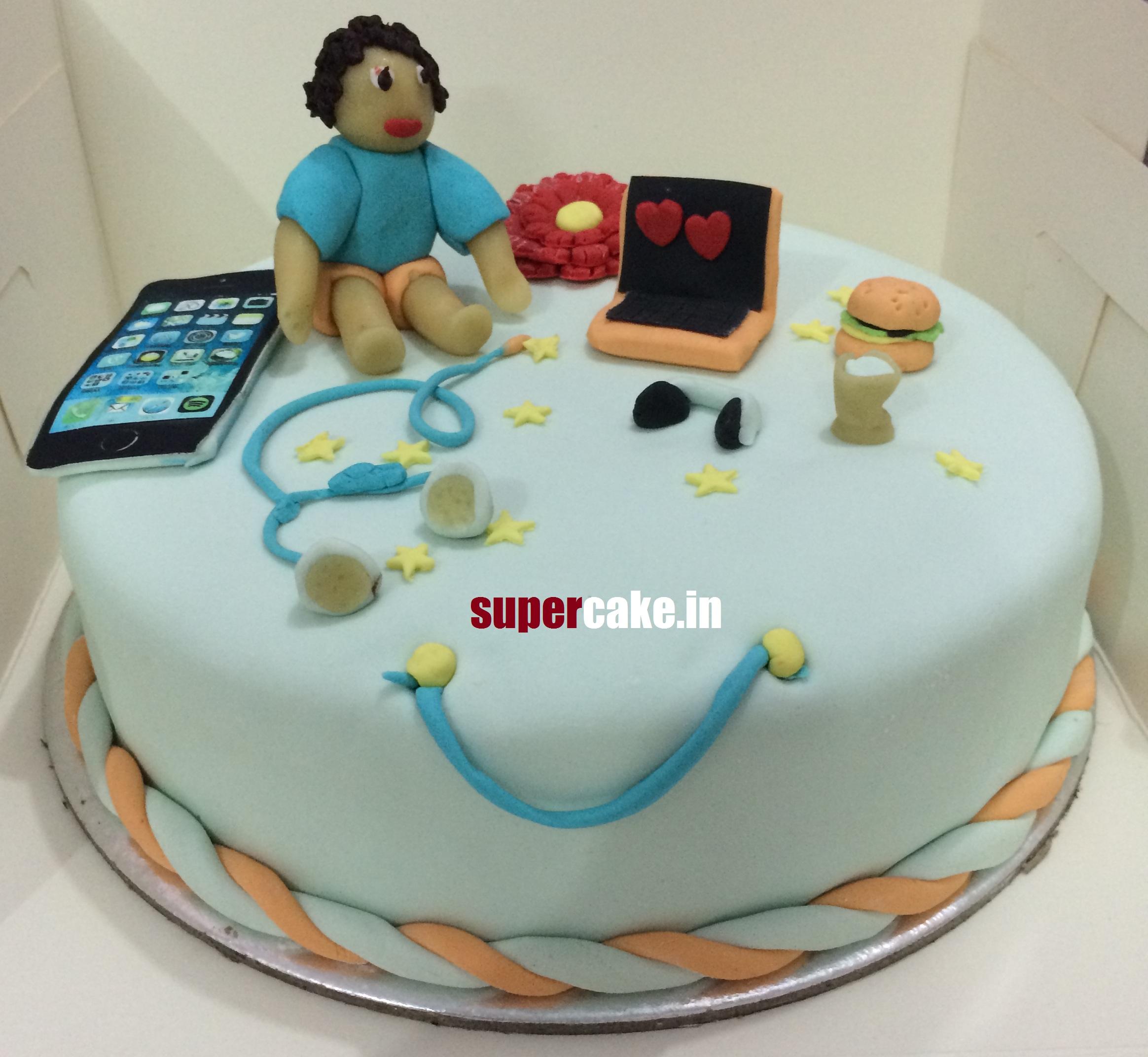 Cake Design For 1 Kg : 1kg customize designer cake