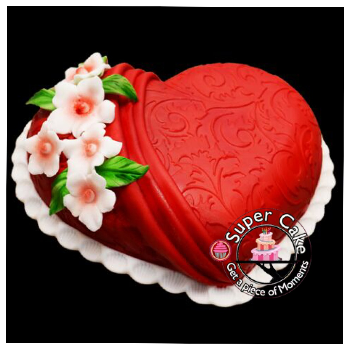 1kg Red Heart cake