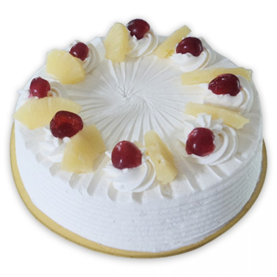 White Chocolate Eggless Cake