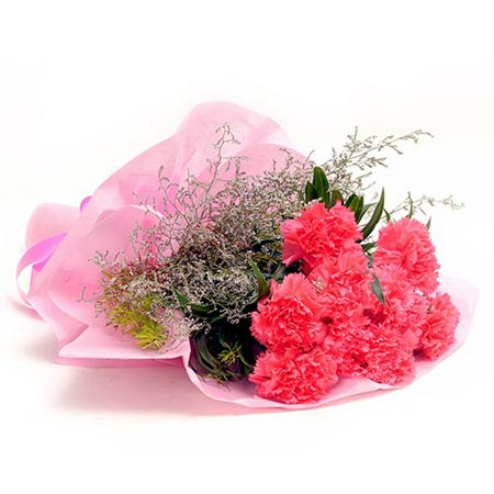 10 Carnations Pink