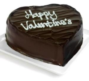 1/2Kg Chocolate Heart shape cake