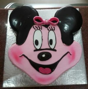 2 Kg Minnie Mouse Face cake