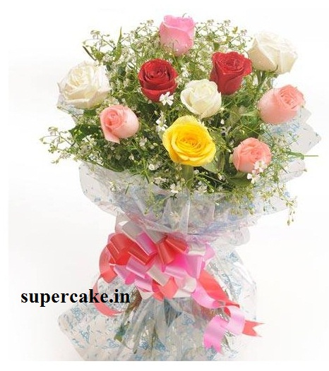 10 Mixed Roses Bunch