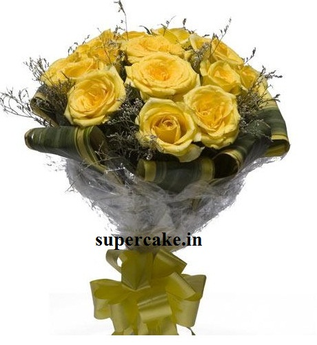 10 Yellow Rose Bunch