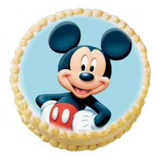 1 kg eggless micky mouse pineapple photo cake